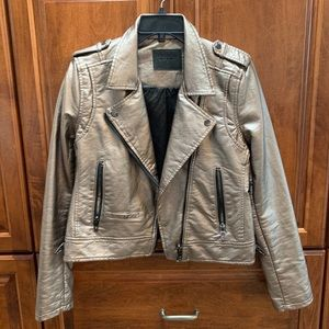 Blank NYC gold leather jacket